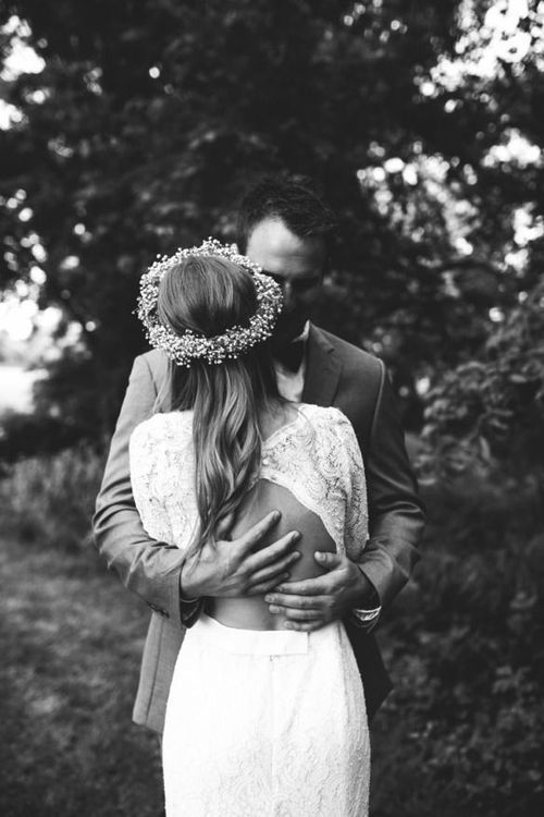 We love this black and white photo from a Bohemian wedding.