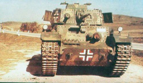 Hungarian Turán I medium tank.
