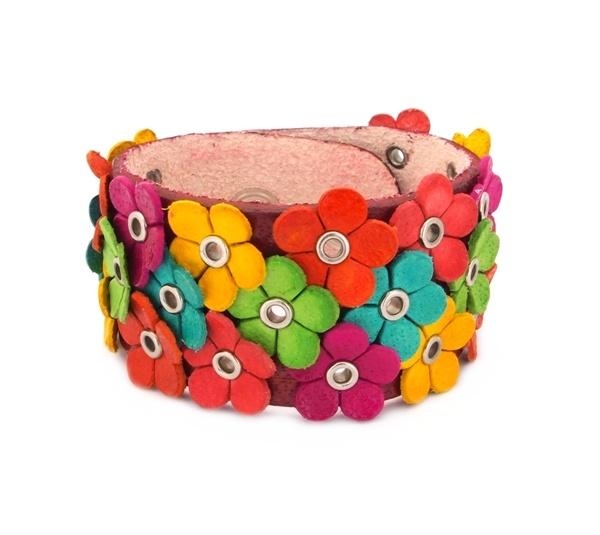 Hippe leren armband