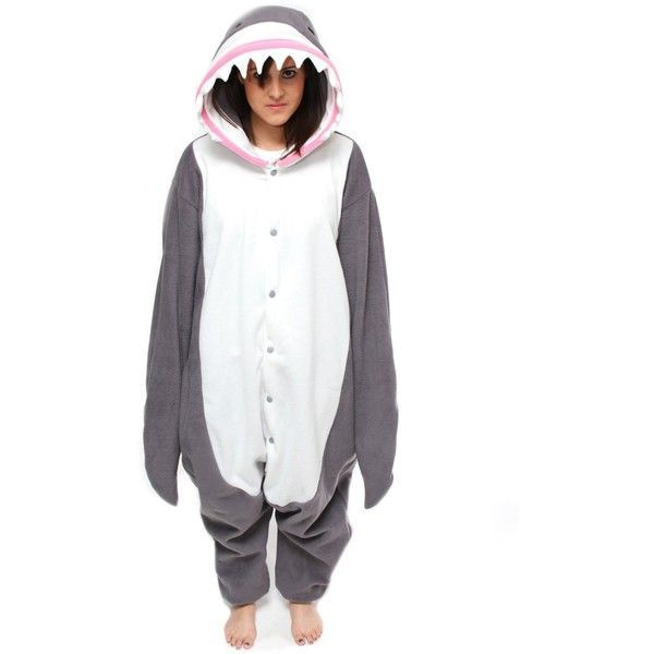 1fc72fcf1180 Bcozy Shark Adult Costume (€38) ❤ liked on Polyvore featuring ...