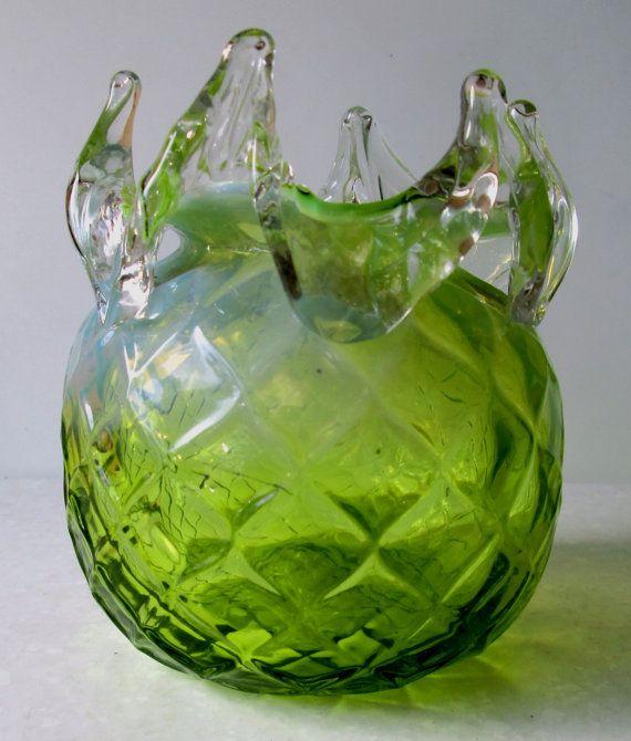 Vase Rose Bowl Kralik tchèque/Bohème