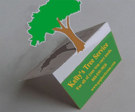 38 best creative b cards images on pinterest visit cards business business card shaped like a tree die cut tree service business card1 reheart Images