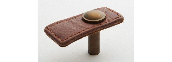 Tan leather tab