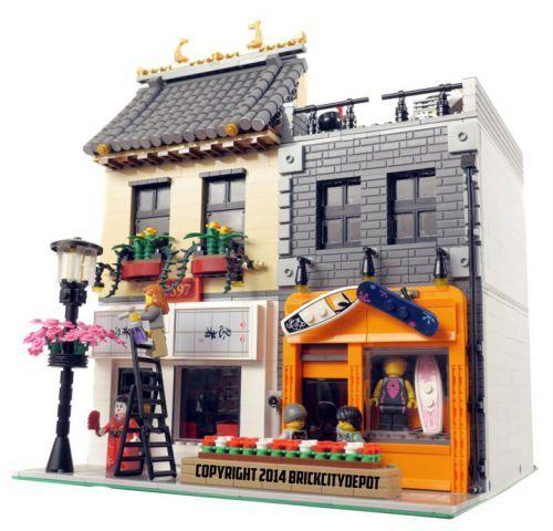 Japanese Restaurant & Board Shop - Modular Building: A LEGO® creation by Brian Lyles : MOCpages.com