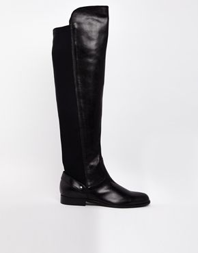 Carvela Wood Elasticated Back Over The Knee Flat Riding Boots