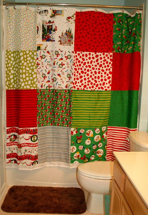 Dr Seuss' How The Grinch Stole Christmas Shower by greatfulthread, $125.00