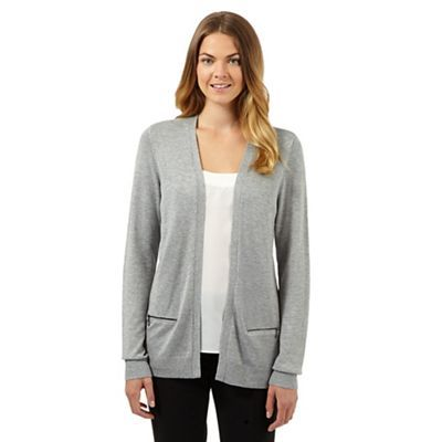 The Collection Grey zip pocket cardigan | Debenhams