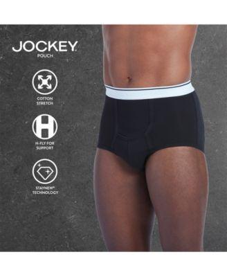 Jockey Men's Underwear, Pouch Briefs 3 Pack - Black XXL