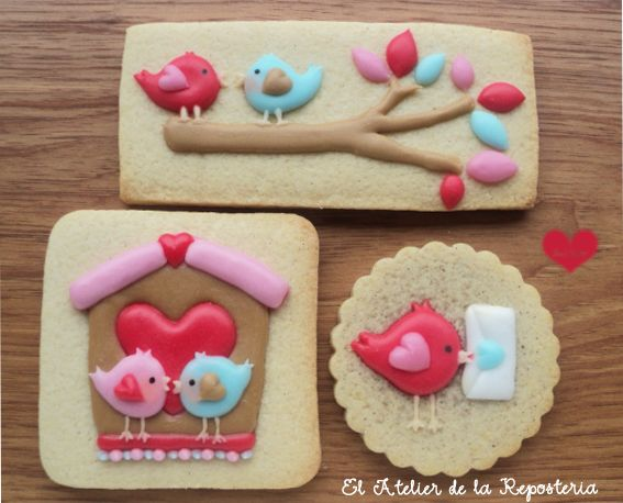 Love bird cookies - Valentine's Day