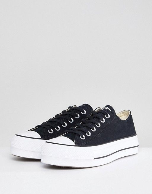 Converse Chuck Taylor All Star Platform Ox Sneakers In Black in 2019 ... 54ba376d5
