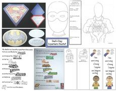 FREE Father's Day superhero-themed packet.