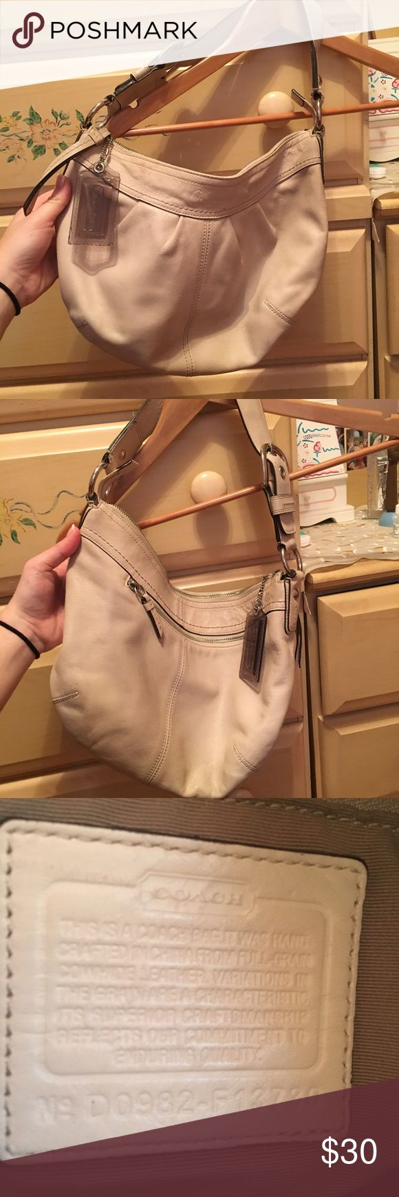 Authentic coach Pocketbook Beige coach Pocketbook. Message me for more details and or pictures :) Coach Bags Shoulder Bags