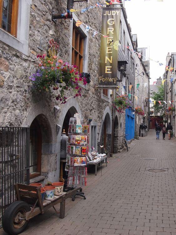 Medieval Alleyway in Galway, Ireland.