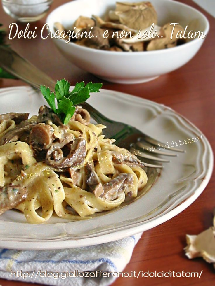 Tagliatelle ai funghi porcini secchi   primo piatto autunnale