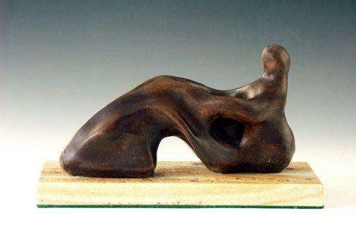 Bronze sculpture after Henry Moore reclining woman by zalt57, $800.00