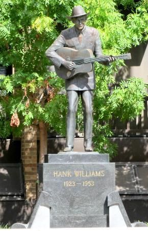 Hank Williams statue. Hank was born in Georgiana, Alabama. This small town is located along one of the back roads we take to the beach.