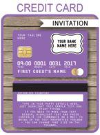 Credit Card Invitations template – purple