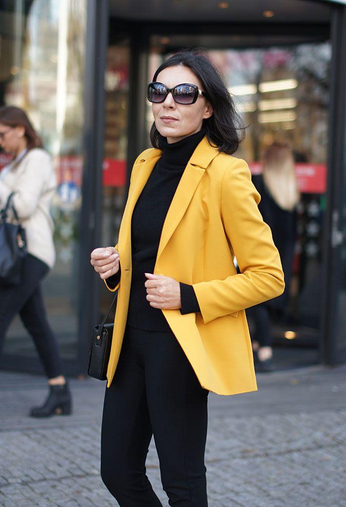 e3e5af491c51b ... #yellow #emoi #jacket #elegant #colorful #yellowoutfit #yellowlook  #ootdfashion #fashionblogger #40sfas… | Fashion - minimalissmo's looks |  Fashi…