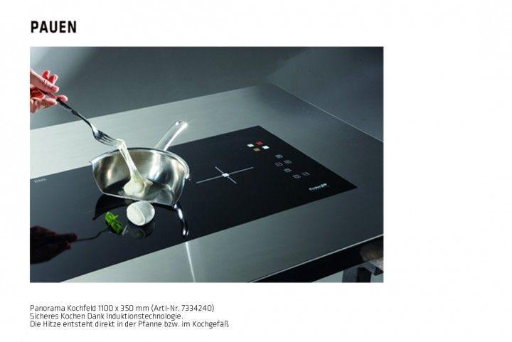 Panorama Kochfeld Induktion, Glas schwarz 1100 x 350 mm. Ideal für Downdraft Modell Downdraft EVO von PAUEN