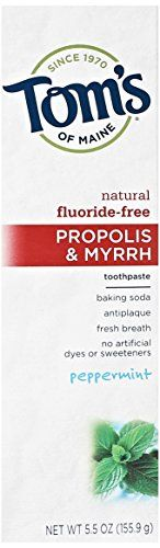 Tom's of Maine Baking Soda with Propolis and Myrrh Toothpaste, Peppermint, 5.5 oz //Price: $ & FREE Shipping // #healthbenefits #lifestyle #healthy #energy #healthypeople   #relax #nocancer #firstaid #womenhealth #menhealth