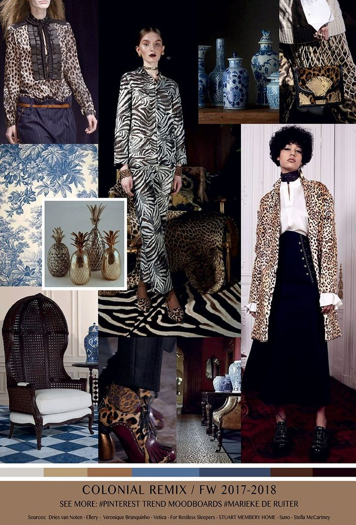 TrendSenses Moodboard Colonnial Remix FW 2017-2018 - We collect and select. We research and reflect - Trendsenses.com
