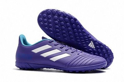 a94c38fd9cc5 2018 FIFA World Cup Russia New Adidas Predator Tango 18 4 TF Turf Soccer Mens  Shoes Purple White Sky Blue