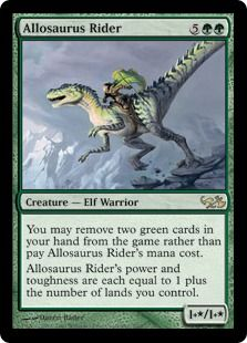 Allosaurus Rider♥️♣️♦️Magic the Gathering ♦️♥️♣️More Pins Like This At FOSTERGINGER @ Pinterest ♠️♥️‬