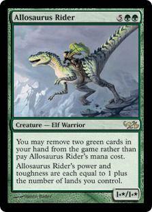 Allosaurus Rider♥️♣️♦️Magic the Gathering ♦️♥️♣️More Pins Like This At FOSTERGINGER @ Pinterest ♠️♥️