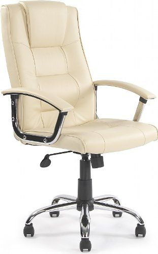 Melbourne High Back Cream Leather Faced Executive Office Chair Kitchen Home