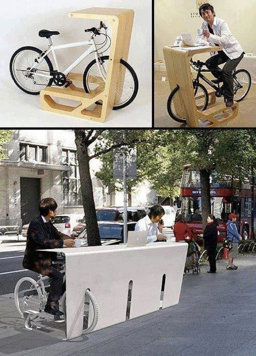 Voy a construir uno igual en la vereda de mi Bar! Genial! Súper-Funcional! Tiene diseño y es original!