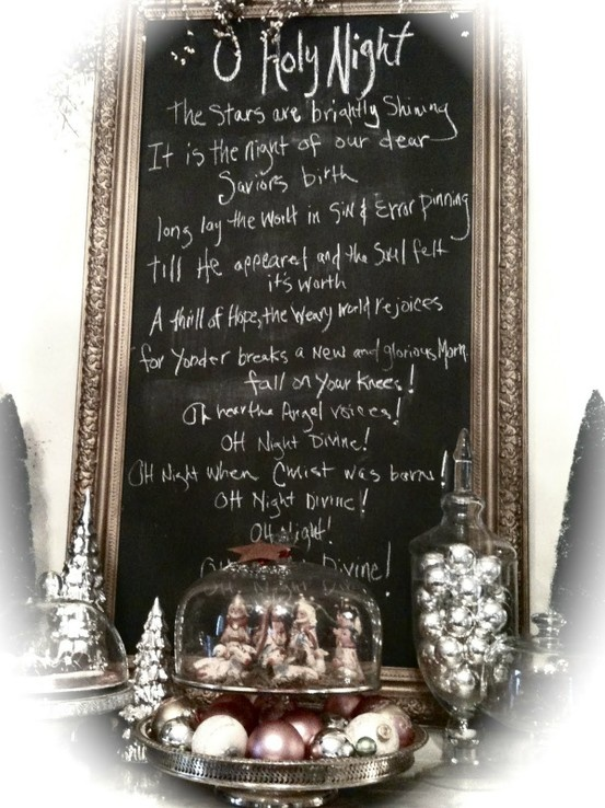 Great Mantle Decor Idea! My favorite Christmas song!!!!