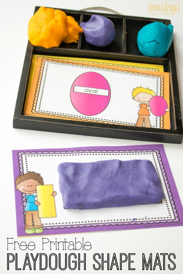 Preschool Learning With Playdough Shape Mats Printable