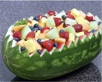 Watermelon boat : for a brunch time or afternoon baby shower