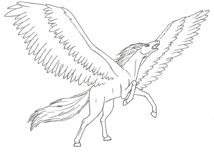 free coloring pages flying horses - photo#49