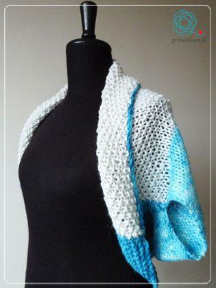 Teal-Snow Shrug by Cathliin - free pattern {www.prawelewe.pl}