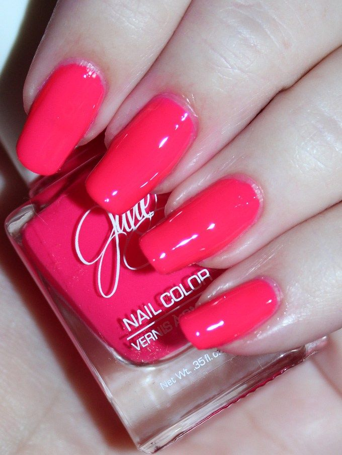 This is Jesse's Girl Julie G Nail Polish in the shade Oh Em Gee Fun nail art using the Jesse's Girl Julie G Nail Polish Trios along with full swatches & review! Trio #1 Bikini, Tropical, & Dream in Pretty. Trio #2 is Cabana Boy, Fierce & Fab, & Oh Em Gee. & Trio #3 is Santorini, Rio de Janeiro, & Julie's Fave. Check out more nails, makeup, & beauty posts on All Things Beautiful XO