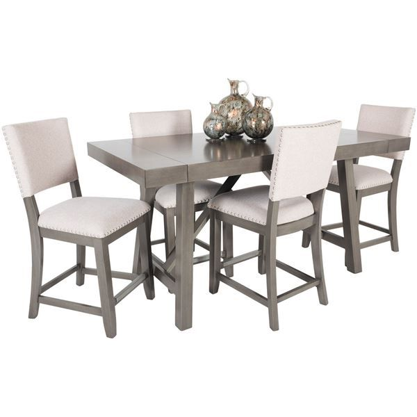 Marvelous Omaha Grey Counter 5 Piece Dining Set By Standard Furniture Is Now  Available At American Furniture
