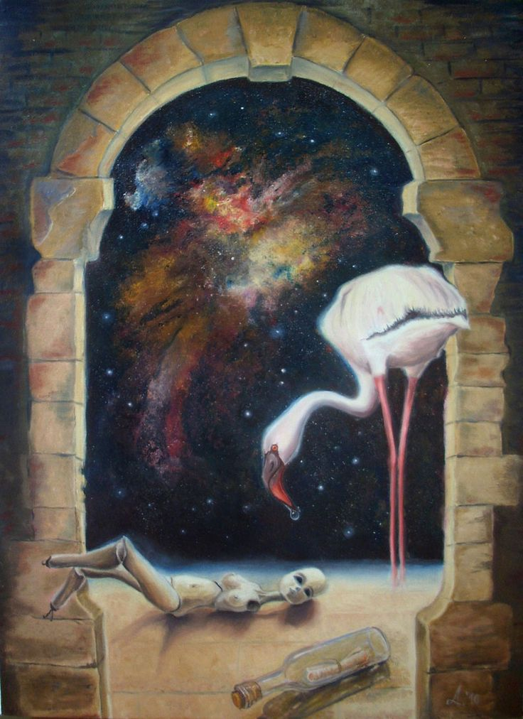 Message from a past - oil on canvas - huiles sur toile 50 x 70 cm 2010 dida_lupan@yahoo.com #oil #canvas #traditional #painting #surreal #child #childhood #memory #space #life #cosmos