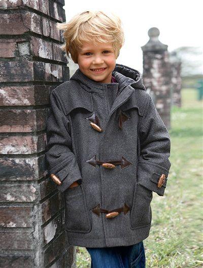 Trenca austríaca de paño de lana para niño de 2 a 14 años.