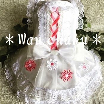 🌸新作アップ🌸 姫系*ウエディングフラワー http://wanchuku.shop-pro.jp  ウエディング等のパーティーにもぴったり❤これからの季節にも嬉しい涼しげでおしゃれなワンピです❤ オーガンジー&ネップシャンタン生地の張りのあるスカートでボリュームがありゴージャス感たっぷりですฅ^•ﻌ•^ฅ 申し訳ございませんが、ご好評をいただき、残り1点のみのオーダーとなります。ご希望の場合はお早めにどうぞฅ^•ﻌ•^ฅ❤  #犬 #犬服 #犬服オーダー #ウエディング #ドレス #ワンピース #ロマンティック #可愛い #姫系 #ふわふわ #パーティードレス #チワワ #ポメラニアン #トイプードル #ミニチュアダックス #マルチーズ #ヨークシャーテリア #シーズー #小型犬 #ミックス犬 #愛犬 #コーディネート #おしゃれ #お出かけ