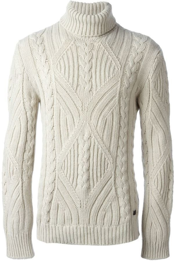 Woolrich Cable Knit Turtle Neck Sweater