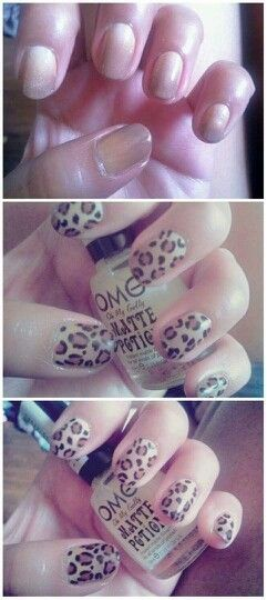 iamhazelnut  step by step ombre leopard nails #matte