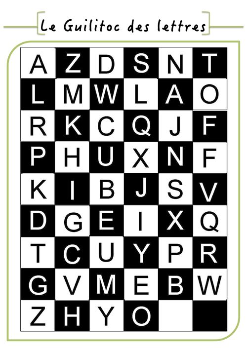 Le guilitoc des lettres