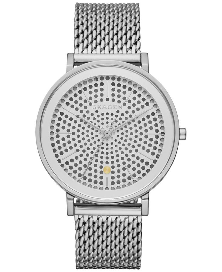 Skagen Women's Solar Hald Stainless Steel Mesh Bracelet Watch 34mm SKW2446