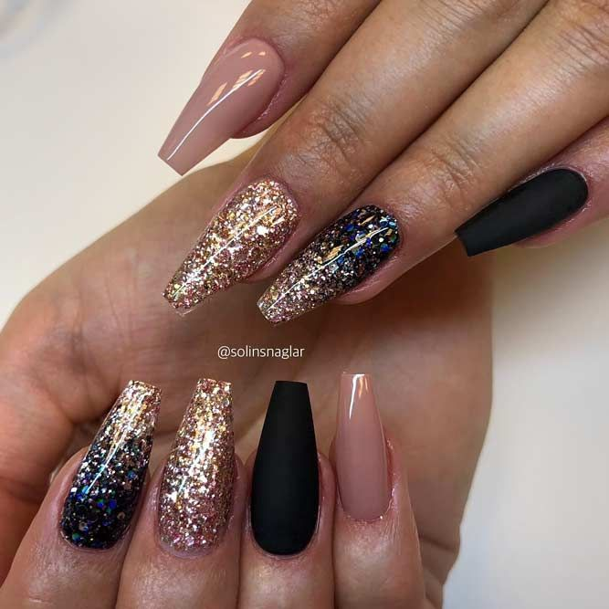 Coffin Nails Ideas For Enchanting Look Naildesignsjournal Com Ombre Nails Glitter Trendy Nails Nail Art Ombre