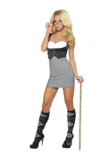 If your looking for a unique costume that-ll sure turn heads as you walk on by, look no further than this sexy Costume!2 PC Detention Diva Costume from amiclubwear.com on sale every day for $88.99