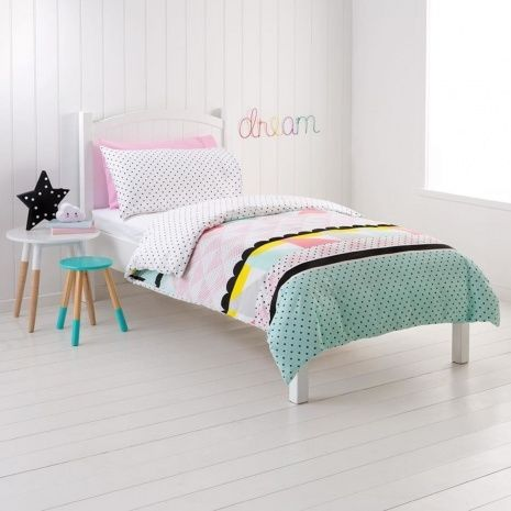 zarah pastel pink design single bed kids quilt doona cover and pillowcase set in home u0026 garden bedding quilt covers