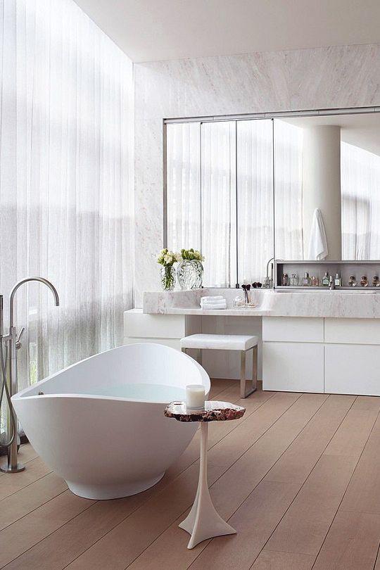 138 best Für Stilvolle images on Pinterest Bathroom, Bathrooms - freistehende badewanne einrichten modern