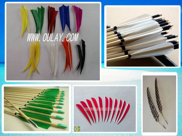 turkey feather fletching for DIY arrows ruby@oulay.com http://oulay.en.alibaba.com/