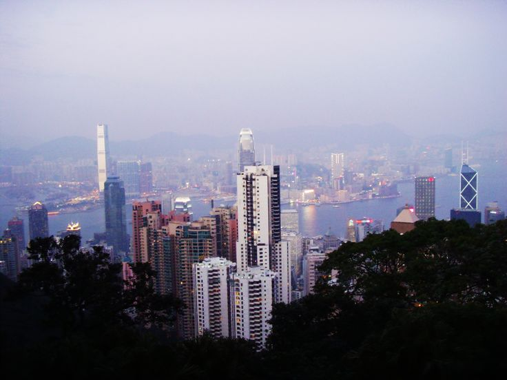 December 2009 - Evening view of Victoria Peak at Hong Kong. After the visit of Madame Tussauds Wax Museum, while waiting for the bus, captured the evening view of Hong Kong from the peak. Cloudy but the view was truly awesome.